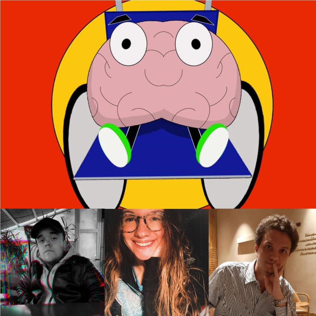 Nella parte alta della foto compare il logo stilizzato di disabilmente in cui un cervello è appoggiato sopra una sedia a rotelle. Nella parte bassa a partire da sinistra ci sono le foto di Riccardo, Alice e Ludovico.