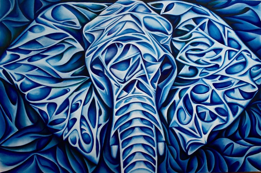 L'elefante blu